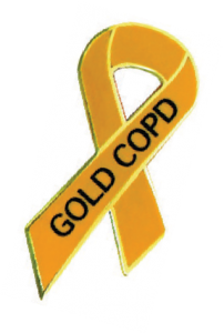Gold COPD Ribbon
