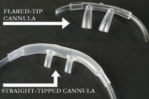 flared-tip and straight-tipped cannula close ups
