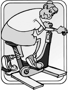 cartoon person working out